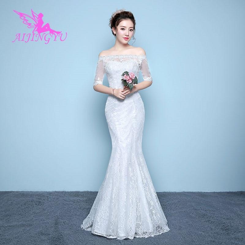 AIJINGYU 2018 Beautiful Free Shipping New Hot Selling Cheap Ball Gown Lace Up Back Formal Bride Dresses Wedding Dress WK155