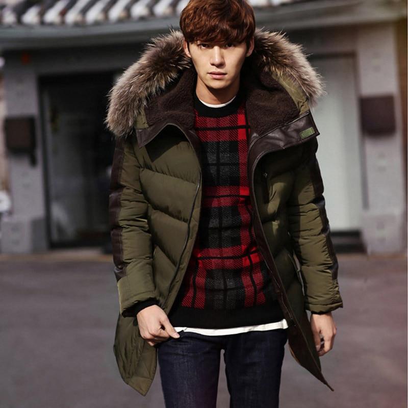 Popular Mens Parka Jackets Fur Hood in Green-Buy Cheap Mens Parka ...