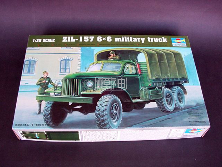 Military Plastic Assembly Model Military Vehicle 1 35 Soviet 157 Gil 6X6 Transport Truck 01001
