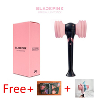 YOUPOP KPOP Blackpink Hammer Light Stick Concerts Album Glow Lamp Lightstick Fluorescent Toys Free Gift Plush Cover Lomo Card