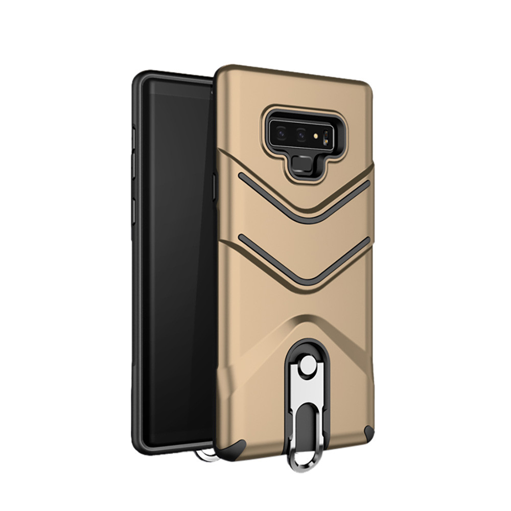 Carabiner Keychain Soft TPU+PC Bracket Back Shell Phone Case Stand Cover For Samsung Galaxy Note 9