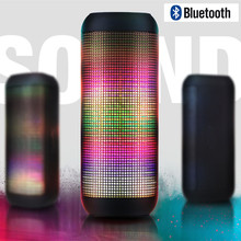 Pulse bluetooth Speaker LED Glow Pulse 2 Lighting Mini Portable Wireless speaker Good Bass Speakers Boombox AUX USB TF