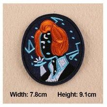 1 pc patches para roupas mulheres senhora crachá remendos do bordado 7.8×9.1 cm para sacos diy acessórios de vestuário