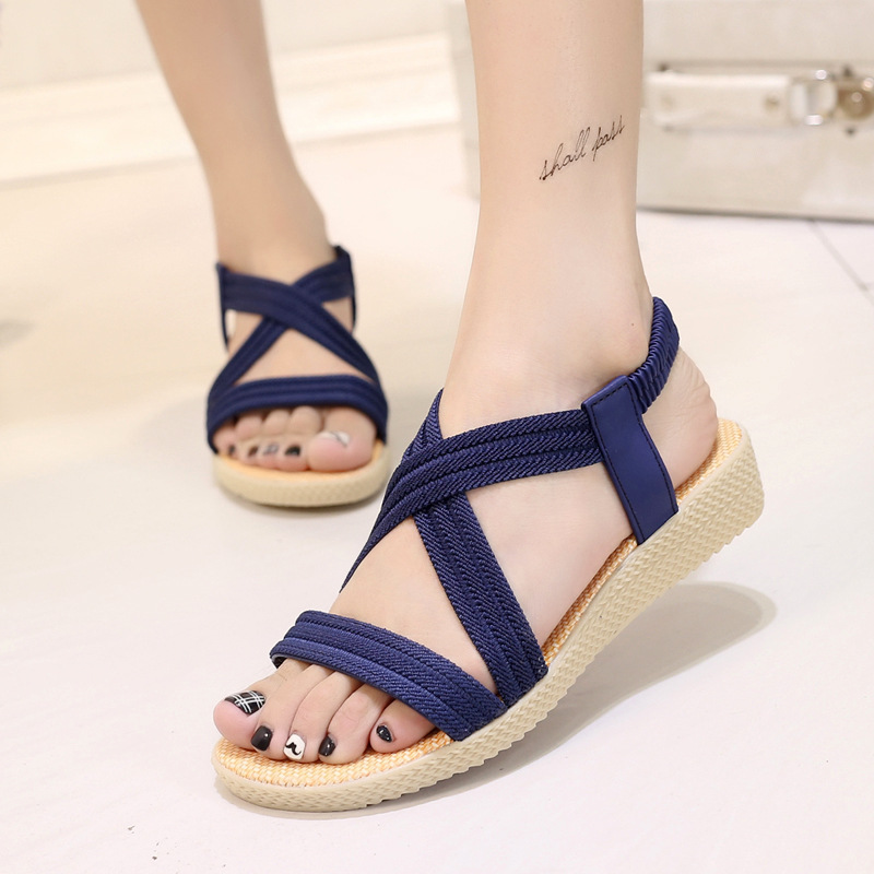 Women sandals 2018 fasion bohemia style summer sandals women shoes comfortable flip flop ...