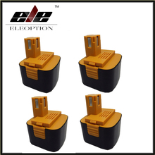 Eleoption 4 pcs 12V 3.0Ah 3000mah Ni-Mh Power Tool Battery Pack for Panasonic Cordless Drill EY9001 EY9101 EY9108 EY9201B EY9200