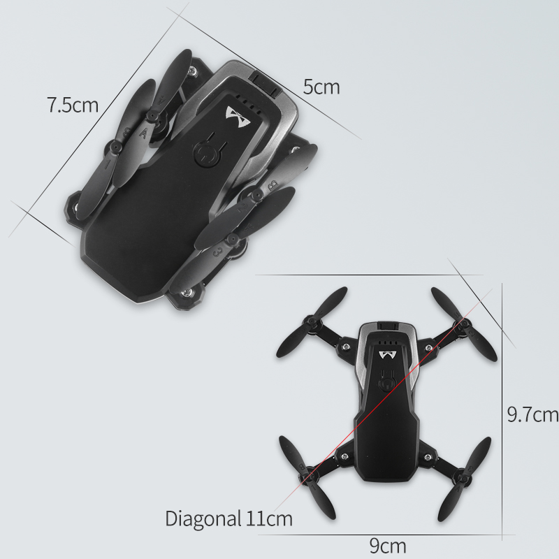 High Hold Headless Selfie Professional Helicopter Foldable FPV wifi drone  2