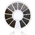 Nuevo Llega la Rueda de Uñas Cuentas de Vidrio de Colores 3D Nail Art Decoraciones Rueda Mujeres Moda Del Clavo de DIY Accesorios de La Joyería WY587