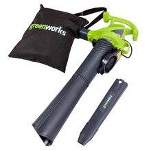 Садовый пылесос cleaner Greenworks GBV2800 (Мощность 2800Вт, производи. 750 м3/час, объем 45л, выдув, мульчирование)