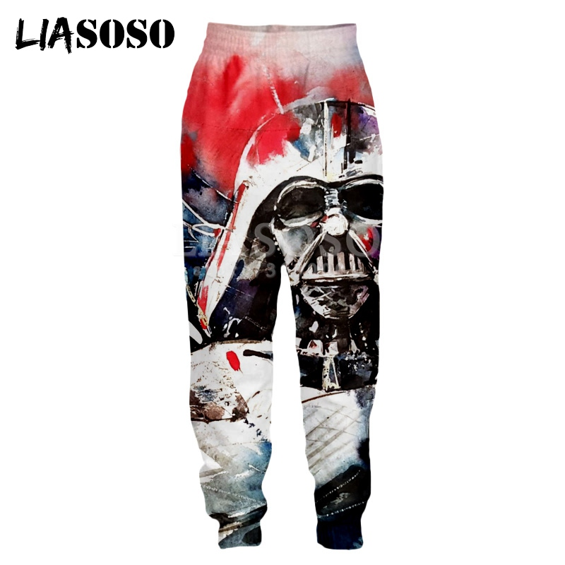 LIASOSO 3d Print Men Women Famous Movie Star Wars Sweatpants Casual Sweat Pants Jogging Long Pants Cool Youth Pants X2203