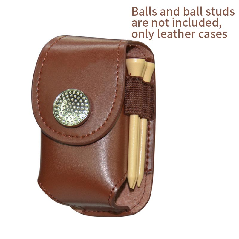 High Quality Leather Golf Ball Bag Holder Clip Waist Pack Utility Pouch Golf Training Aids With Ball Tees Divot Sports Equipment