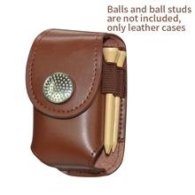 Wysokiej jakości skórzana piłka golfowa uchwyt na torebkę klips w talii opakowanie worek użytkowy Golf pomoce szkoleniowe z kulkami Tees Divot sprzęt sportowy tanie tanio DKSHETOY 36869 Other