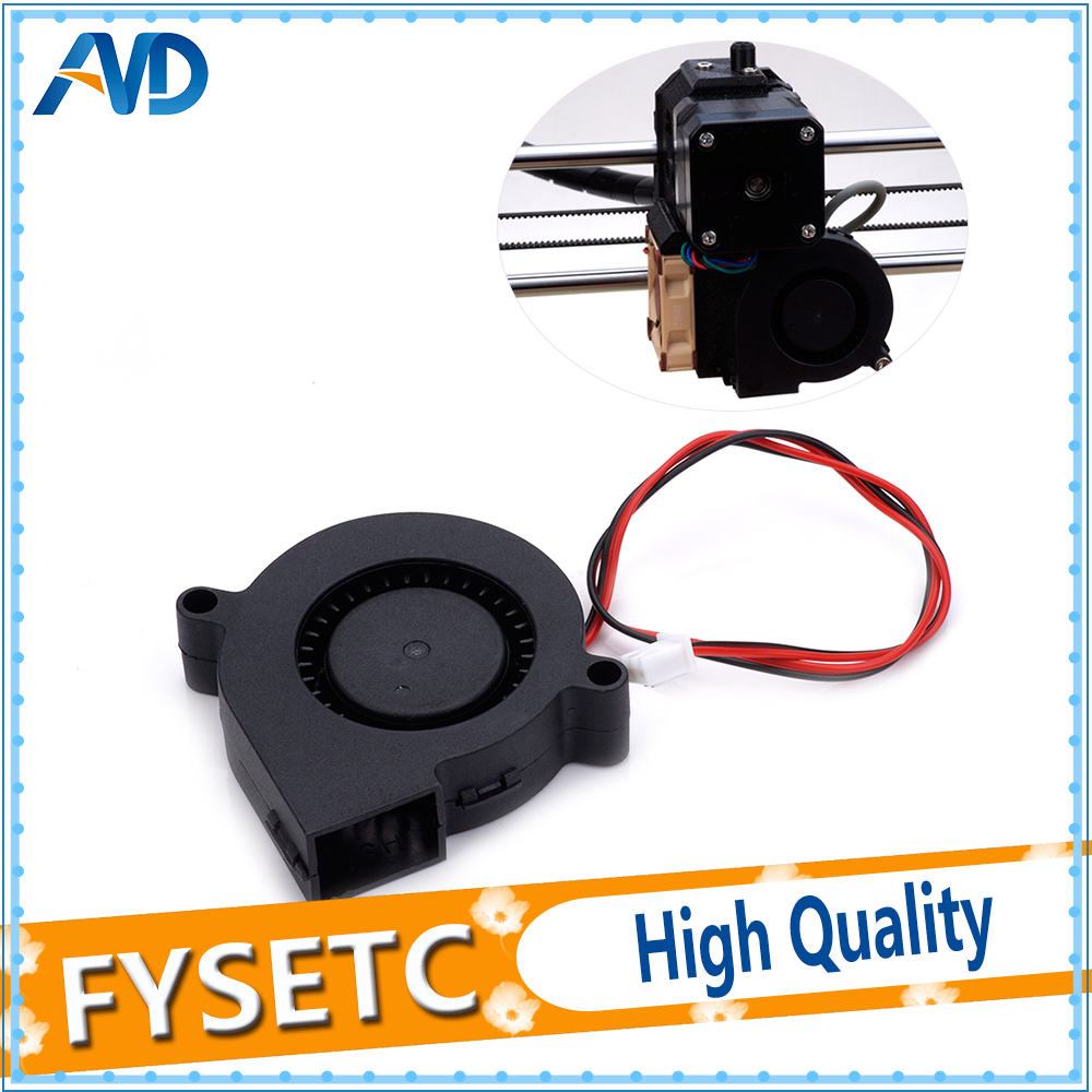 2pcs 12V DC 5015 50x50x15mm Blow Radial Cooling Fan Sleeve Bearing for Anet A8 A6 font