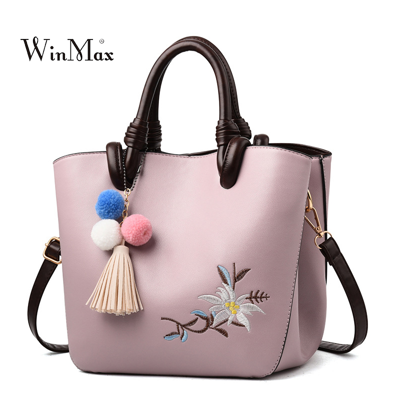 Embroidery Women Handbags Summer Tassel Shoulder Bag For Women Tote Bags Ladies Luxury Vintage Crossbody Bag For Girl Bolsas Sac