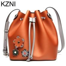 KZNI Genuine Leather Purse Crossbody Shoulder Women Bag Clutch Female Handbags Sac a Main Femme De Marque L123103