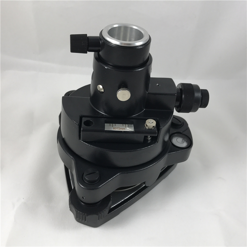 NEW Black THREE-JAW Tribrach Adapter Fits for TOPCON SOKKIA NIKON Type TOTAL STATION PRISM SETUP Prisms W / Optical Plumme
