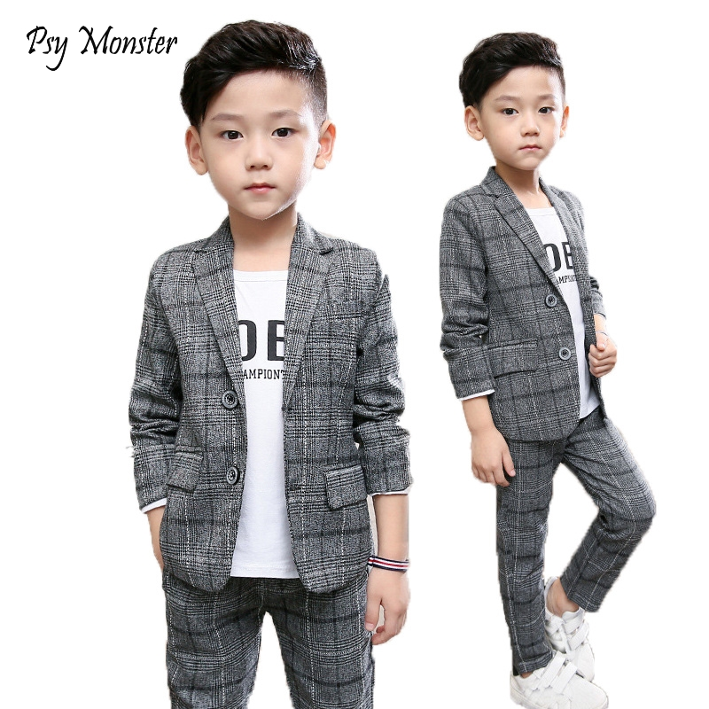 все цены на School uniform Dress for boys Formal Birthday Suits for Weddings Blazer Pants 2Pcs Kids Gentleman Party Child Clothing Sets F64 онлайн