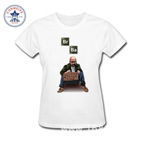2017 Fashion Summer Style BREAKING BAD Los Pollos Hermanos Cotton Funny T Shirt Women