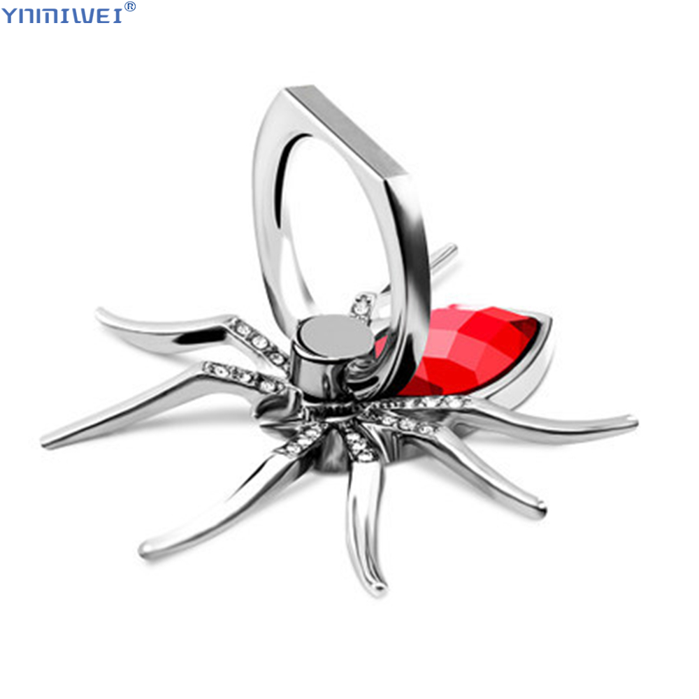 Finger Ring Holder For Cell Phone Ring 360 Rotate Mobile Phone Stands Metal Spider Bling For Samsung S10 Iphone X