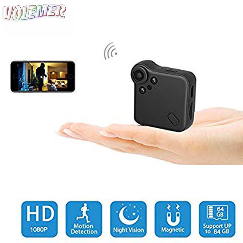 40b582f0531a Volemer C1S P2P Mini Wifi Camera IP Cam Wearable Full HD 1080P Night  Version camera Body