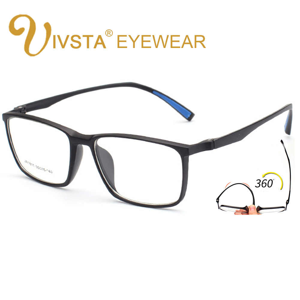 425f88d681c IVSTA Fashion Male Big Oversized Square Optical Prescription TR Glasses  Frame Men Ultra Light Soft Myopia