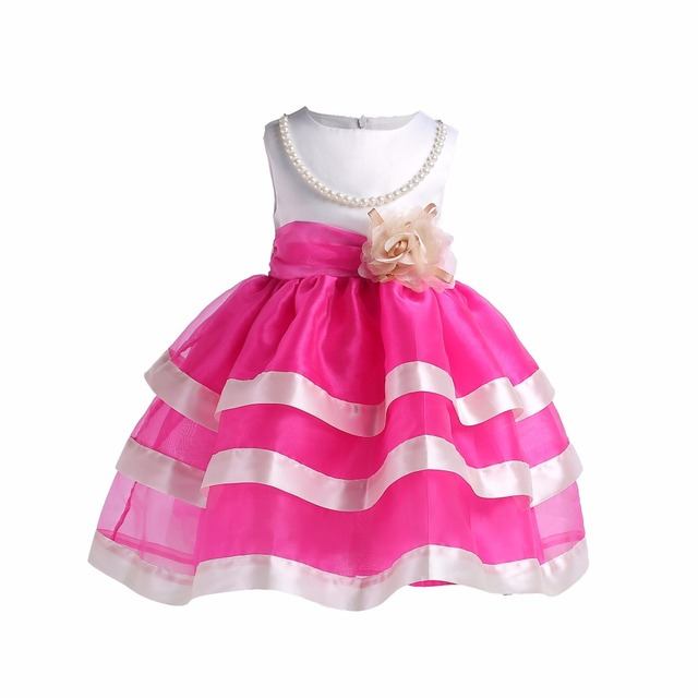 21638aef42227 US $18.39 22% OFF|Baby Girl flower Gown Tutu First Birthday Dress Girls  Kids Dresses Party Evening Formal Wear Costume Children's Clothing-in  Dresses ...