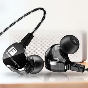 Image 2 - Süper bas kablolu kulaklık çift hareketli bobin kulaklık çift sürücüler kulaklık fone de ouvido Stereo kulaklık Redmi Umidigi MP3