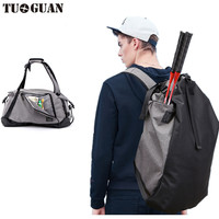 Outdoor Large Capacity Nylon Gym Bag Sport Men Women Big Sport Bag Fitness Bag Handbag Yoga Mat Bag Sac De Sport