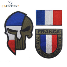 3pc Fabric Hook Embroidered Badges Patches for Clothing Task Force La Fayette Special Flag Armband Army Uniform Ref2 Tactical