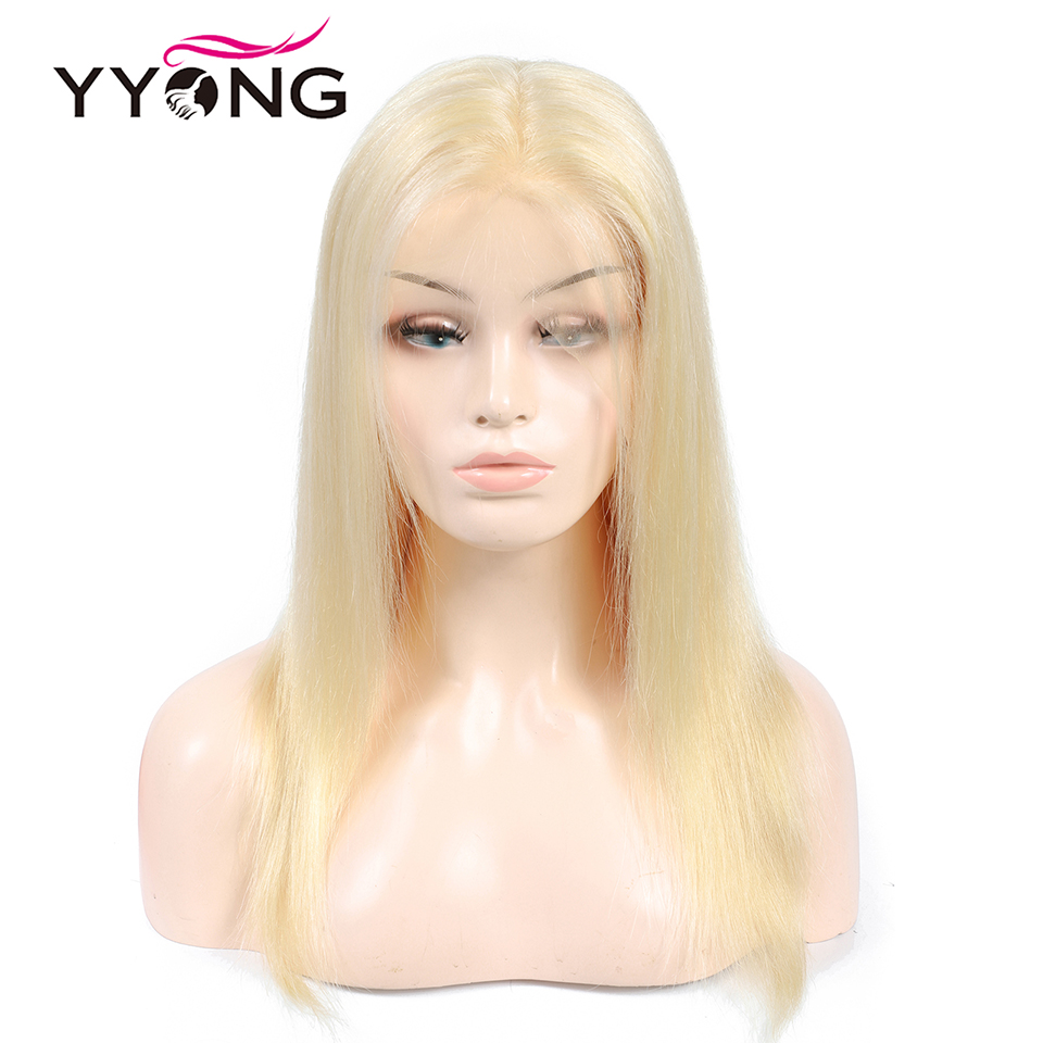 Yyong 613 12x3 Lace Front Human Hair Wigs For Black Women Pre Plucked Hairline With Baby Hairs Brazilian Straight Remy Hair 120%-in Human Hair Lace Wigs from Hair Extensions & Wigs    1