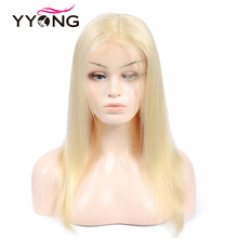 Yyong 613 12x3 Lace Front Human Hair Wigs For Black Women Pre Plucked Hairline With Baby Hairs Brazilian Straight Remy 120%