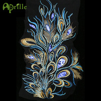 Advanced Customization Sequin Pteris Applique Sequin Embroidery Patches For Clothing Phoenix Bird Embroidered Clothes Diy Badges