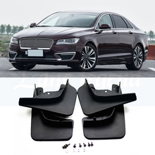 Set Molded Car Mud Flaps For Lincoln MKZ 2014 2015 2016 2017 2018 Mudflaps Splash Guards Mud Flap Mudguards Fender Front Rear set molded mud flaps for honda fit jazz 2014 2017 mudflaps splash guards front rear mud flap mudguards fender 2015 2016