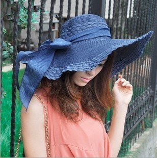 HOT Style summer large brim straw hat adult women girls fashion sun hat uv  protect big ... db962d17e0ca