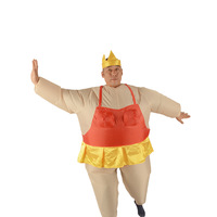 Halloween Inflatable Ballet Costume Funny Fat Man Sumo Fancy Dress Air Blown Suit New Year Costume
