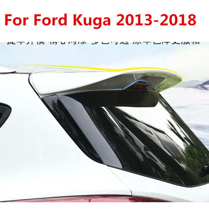 High quality ABS paint car fixed tail, high quality stable car rear spoiler For Ford Kuga 2013 2018, 8 colors Car styling