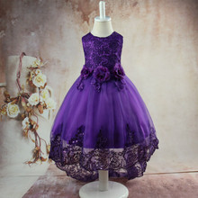new girls dress girl dress sleeveless baby girl clothes Birthday party Stage performance Trailing Wedding presiding Flower