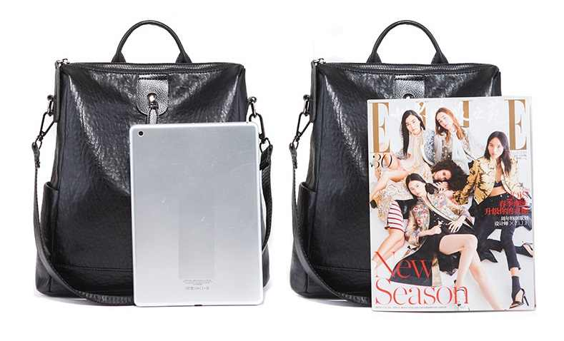 Frauen Rucksack Aus Echtem Leder Frauen Taschen Designer Casual Echt Leder Laptop Rucksack Feste Weibliche Trave Tasche Schule Tasche C748