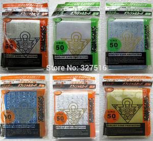 100 упаковок/партия (5000 шт.) Yu-Gi-Oh! Косплей Yugioh Millennium Puzzle аниме держатель карточек настольных игр рукава карты Барьер карты протектор
