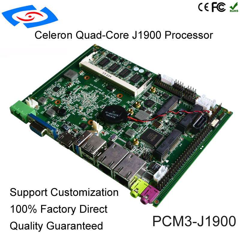 Wholesale OEM Cerelon Bay Trail J1900 CPU Industrial Motherboard With Fanless For ATM / KIOSK Support WIFI And 3G Mainboard