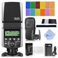 Майке mk 420f ЖК дисплей Многофункциональный длительный литиевая Батарея Вспышка Speedlite для Fuji цифровая Камера