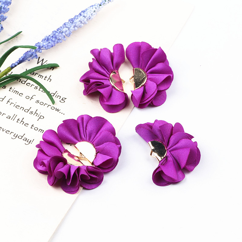 10pcs Pick Color Cloth Flower Tassel Charms Pendants For Jewelry Accessories DIY Craft Earring Keychain Making