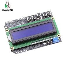 1 pçs lcd teclado escudo lcd1602 lcd 1602 módulo de exibição para arduino atmega328 atmega2560 raspberry pi uno tela azul