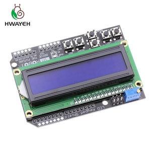 Image 1 - 1PCS LCD לוח מקשי חומת LCD1602 LCD 1602 מודול תצוגת עבור arduino ATMEGA328 ATMEGA2560 פטל pi UNO כחול מסך