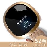 Sun5 Tırnak Kurutucu 52 W LED UV Lambası Tırnak Kurutma Tırnak ayak tirnagi Jel Kür Manikür Makine Nail Art Salon Aracı Otomatik algılama