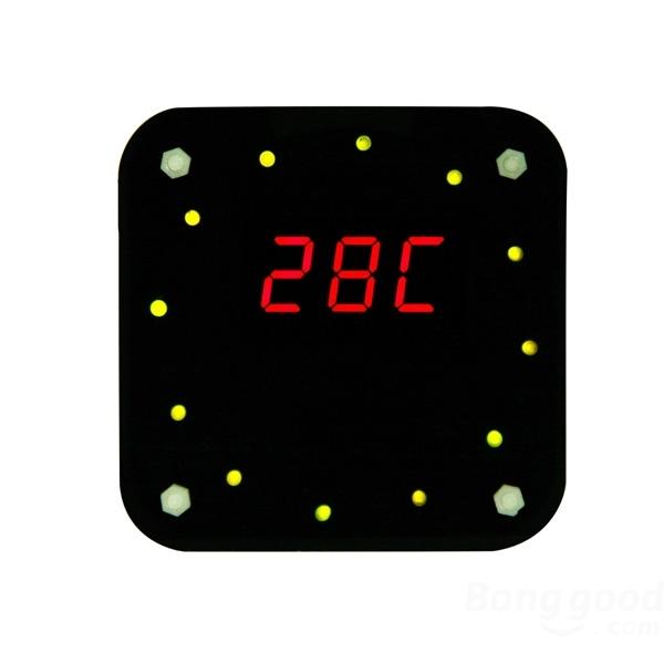 Fábrica Frete Grátis Por Atacado Rotação LEVOU Eletrônico Relógio DS1302 DIY Kit + Caixa de Acrílico