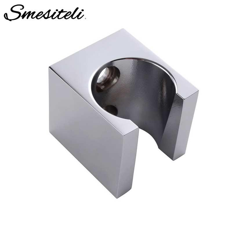 Soild  Brass Handheld Shower Spray Head Holder Bracket Wall Mount For Bathroom Hand Sprayer Wand Brushed Nickel Or Poilsh Chrome