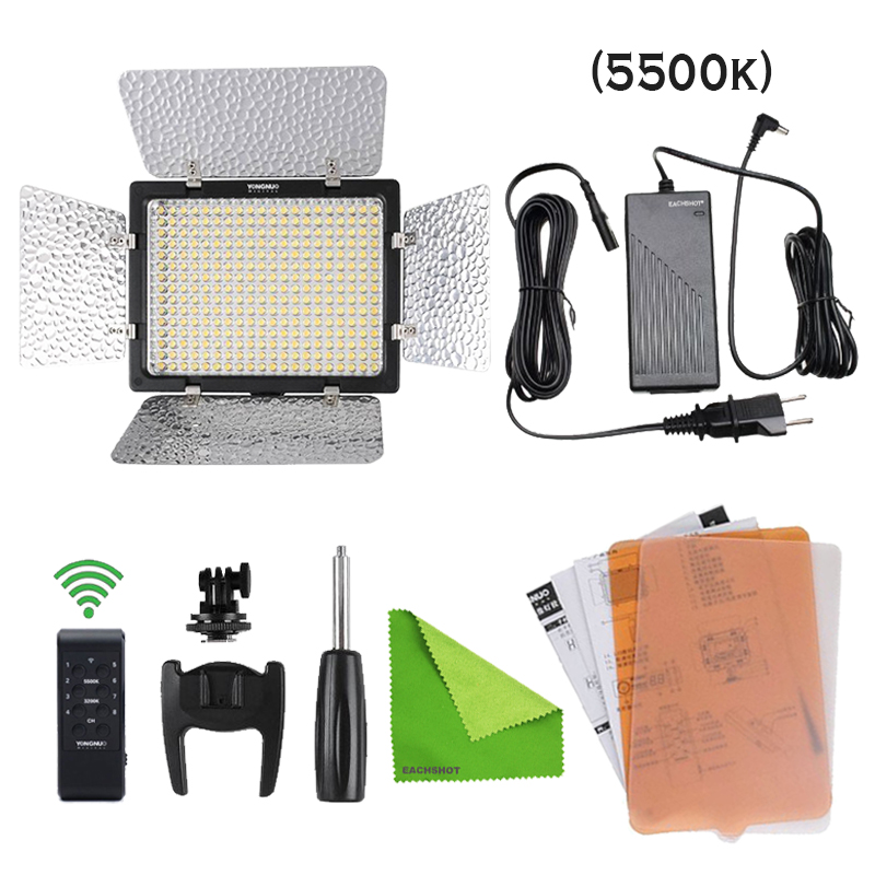 Yongnuo YN300-III 3200K-5500k Color Temperature Pro LED Video Light for DV Camcorder Canon Nikon Pentax Olympus + 1 Ac-Adapter