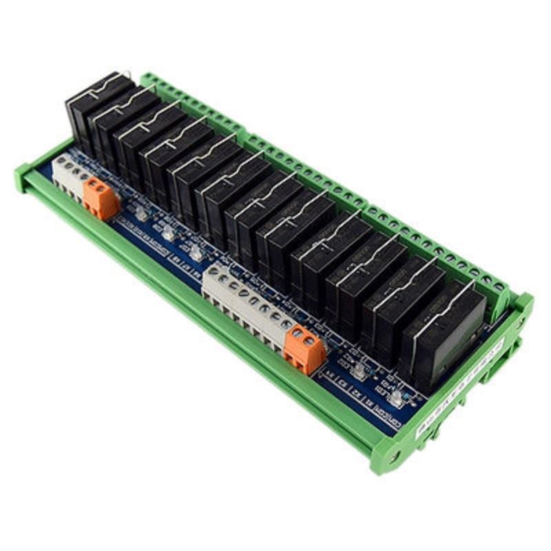 Original Omron Relay Module, 12-way 1NO+1NC 24v Electromagnetic Relay, G2RL-1-E