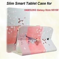 Schlanke Smart Fall Für Samsung Galaxy Note N5100 N5110 8,0 Fall Tablet Schutzhülle PU + TPU Stand Fundas Capa Coque
