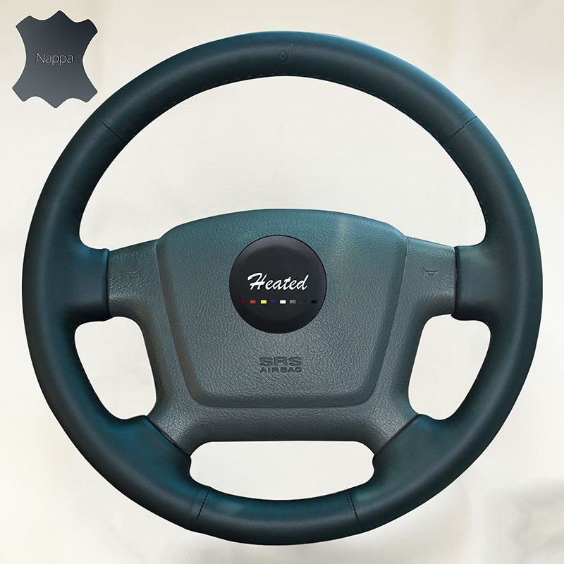 Genuine Nappa Leather Auto wheel steering cover For for Kia Cerato 2005-2012 Old Kia Ceed braid on the steering wheel